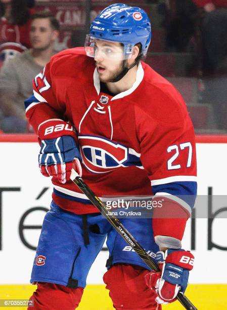Alex Galchenyuk of the Montreal Canadiens plays in the game against the Detroit Red Wings at Bell Centre on March 29 2016 in Montreal Quebec Canada