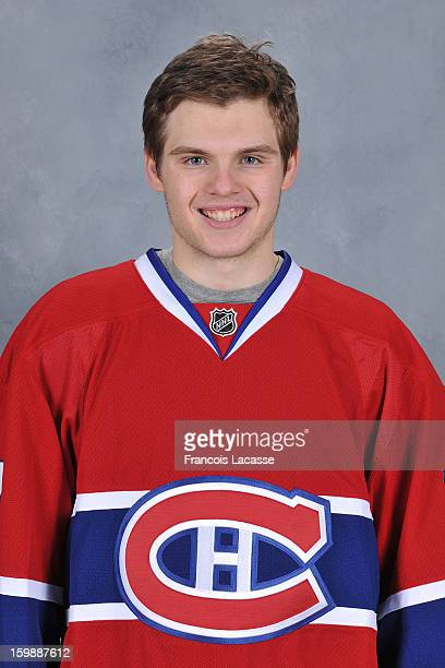 Alex Galchenyuk of the Montreal Canadiens poses for his official headshot for the 20122013 season on January 13 2013 at the Bell Sports Complex in...