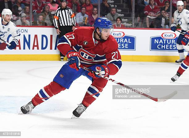 Alex Galchenyuk of the Montreal Canadiens skates against the Tampa Bay Lightning in Game 2 of the Eastern Conference Semifinals during the NHL...