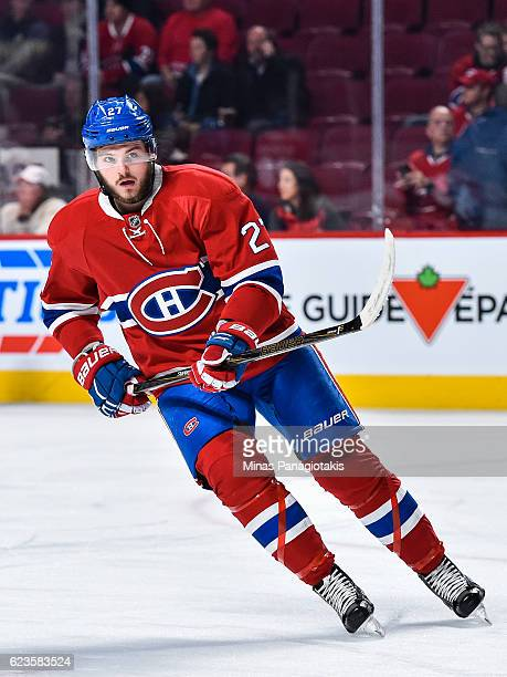 Alex Galchenyuk of the Montreal Canadiens skates during the warmup prior to the NHL game against the Detroit Red Wings at the Bell Centre on November...