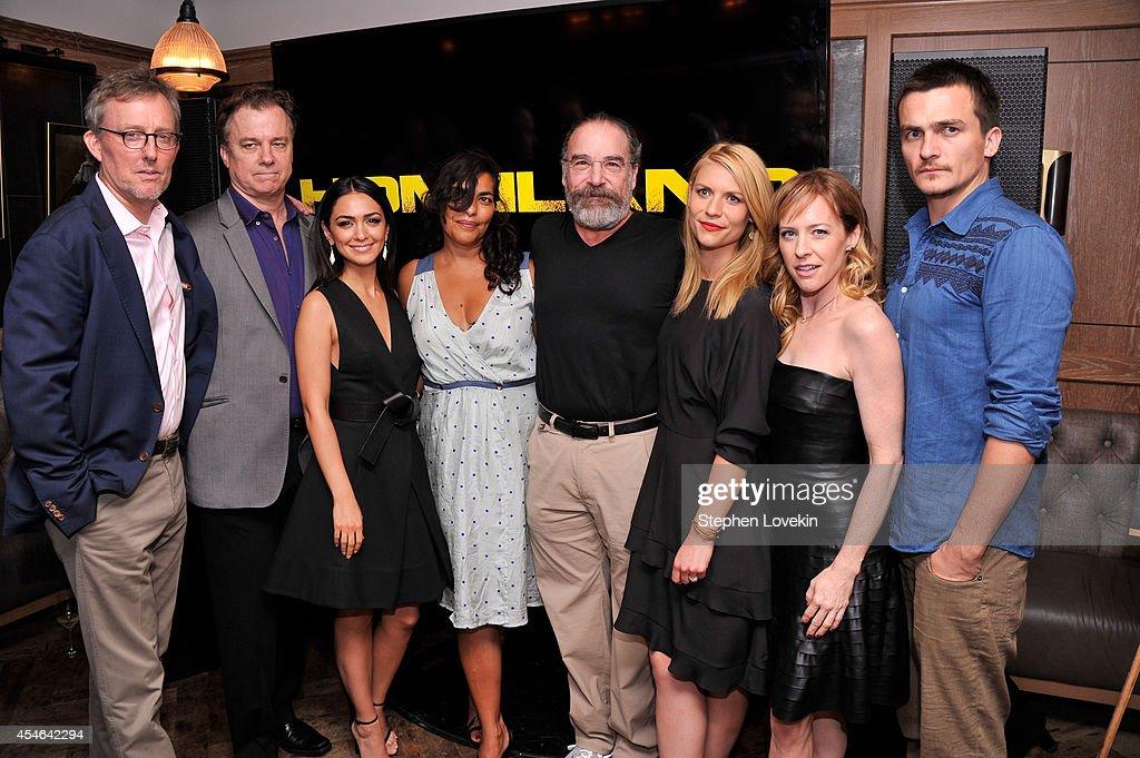 Alex Gansa Michael O'Keefe Nazanin Boniadi Sarita Choudhury Mandy Patinkin Claire Danes Amy Hargreaves and Rupert Friend attend a Private Reception...