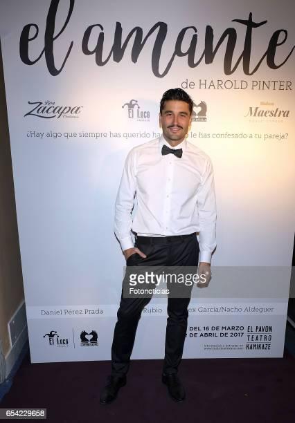 Alex Garcia attends 'El Amante' press night at Pavon Kamikaze Theatre on March 16 2017 in Madrid Spain