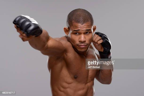 Alex Garcia poses for a portrait during a UFC photo session on March 12 2014 in Dallas Texas