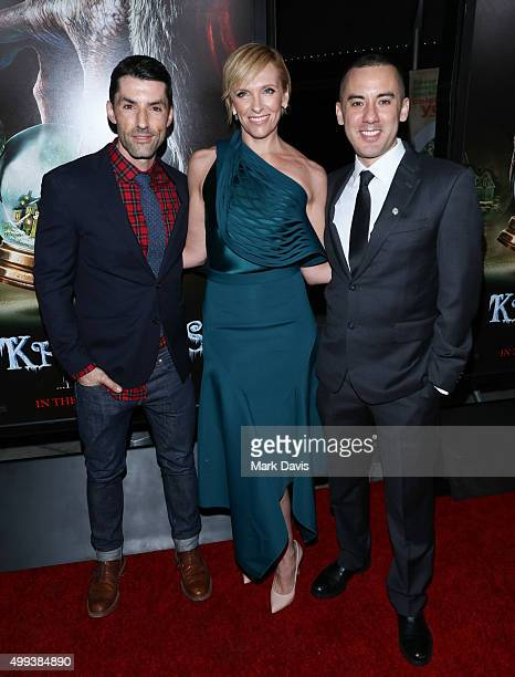 Alex Garcia Toni Collette and Michael Dougherty attend the screening of Universal Pictures' 'Krampus' held at ArcLight Cinemas on November 30 2015 in...