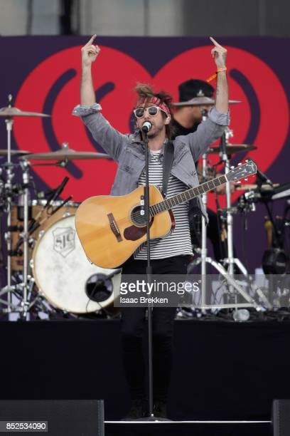 Alex Gaskart of All Time Low performs onstage during the Daytime Village Presented by Capital One at the 2017 HeartRadio Music Festival at the Las...