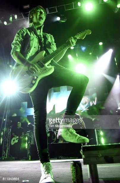 Alex Gaskarth of All Time Low performs in support of the band's 'Last Young Renegade' tour at the Fox Theater on July 8 2017 in Oakland California
