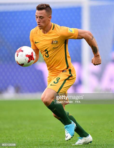 Alex Gersbach of Australia in action during the FIFA Confederation Cup Group B match between Cameroon and Australia at Saint Petersburg Stadium on...