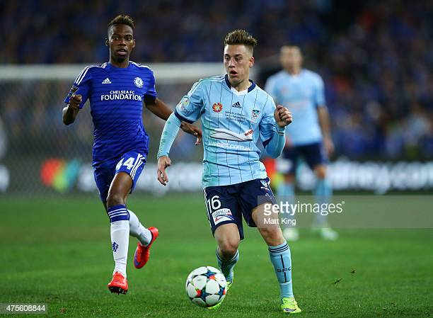Alex Gersbach of Sydney FC controls the ball during the international friendly match between Sydney FC and Chelsea FC at ANZ Stadium on June 2 2015...