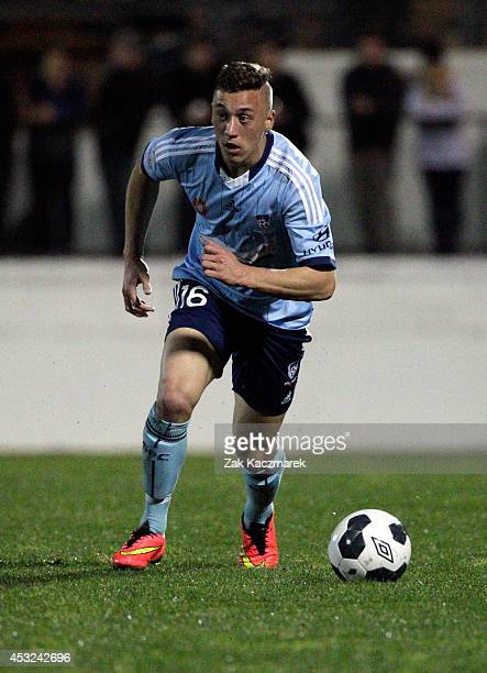 Alex Gersbach of Sydney FC controls the ball during the preseason match between Sydney FC and Bonnyrigg at Leichhardt Oval on August 6 2014 in Sydney...