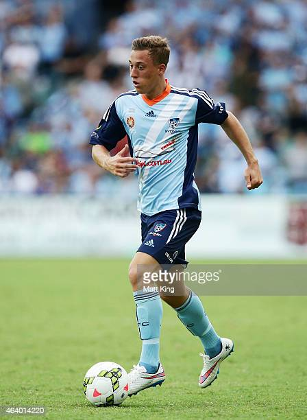Alex Gersbach of Sydney FC controls the ball during the round 18 ALeague match between Sydney FC and the Central Coast Mariners at Allianz Stadium on...
