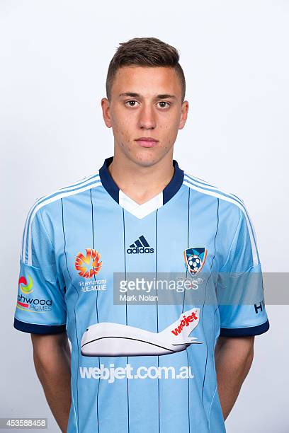 Alex Gersbach poses during the Sydney FC 2014/15 ALeague headshots session at Allianz Stadium on August 14 2014 in Sydney Australia