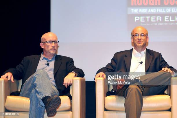 Alex Gibney and Peter Elkind attend TIME INC Live and Unfiltered Presents ROUGH JUSTICE Hosted by FORTUNE at Time and Life Building Screening Room on...