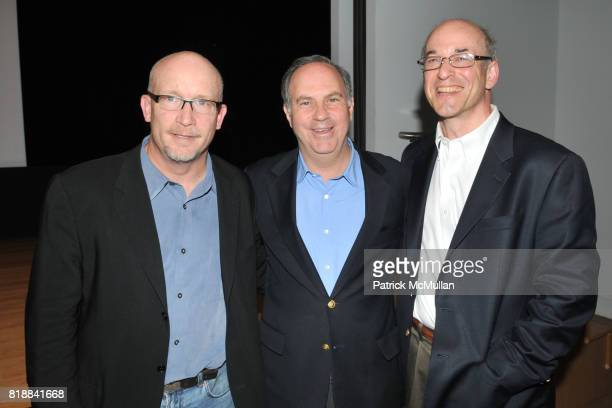 Alex Gibney Andy Serwer and Peter Elkind attend TIME INC Live and Unfiltered Presents ROUGH JUSTICE Hosted by FORTUNE at Time and Life Building...