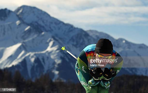 Alex Gibson of Australia competes in the Men's Classic 10km Cross Country during the Winter Youth Olympic Games at Seefeld Arena on January 17 2012...