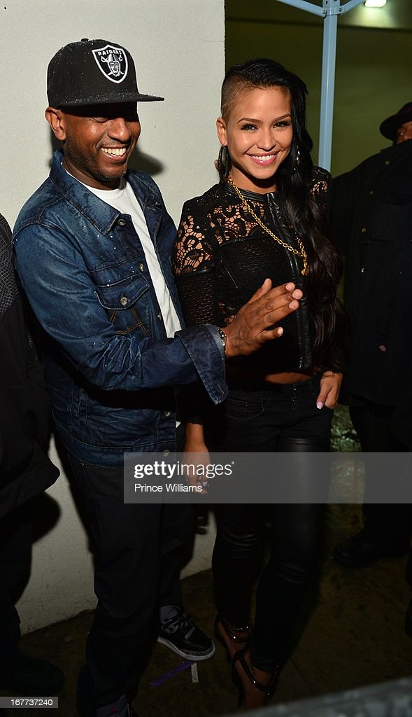 Alex Gidewon and Cassie attend a party at Compound on April 28, 2013 in Atlanta, Georgia.