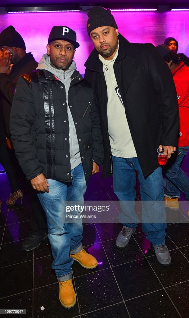 Alex Gidewon and Taz attend AG Entertainment Presents Jeezy Inauguration Weekend on January 20, 2013 in Washington, United States.