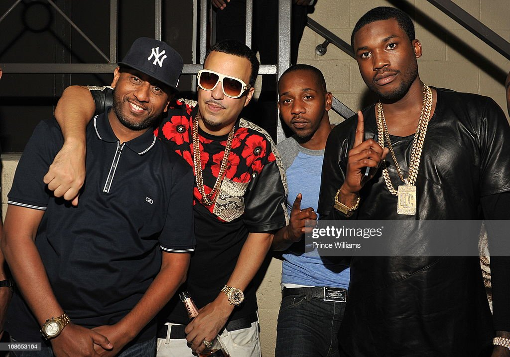Alex Gidewon, <a gi-track='captionPersonalityLinkClicked' href=/galleries/search?phrase=French+Montana&family=editorial&specificpeople=7131467 ng-click='$event.stopPropagation()'>French Montana</a>, Ruggs and <a gi-track='captionPersonalityLinkClicked' href=/galleries/search?phrase=Meek+Mill&family=editorial&specificpeople=7187702 ng-click='$event.stopPropagation()'>Meek Mill</a> attend the <a gi-track='captionPersonalityLinkClicked' href=/galleries/search?phrase=Meek+Mill&family=editorial&specificpeople=7187702 ng-click='$event.stopPropagation()'>Meek Mill</a> and DJ Drama Birthday Celebration at Velvet Room on May 12, 2013 in Chamblee, Georgia.
