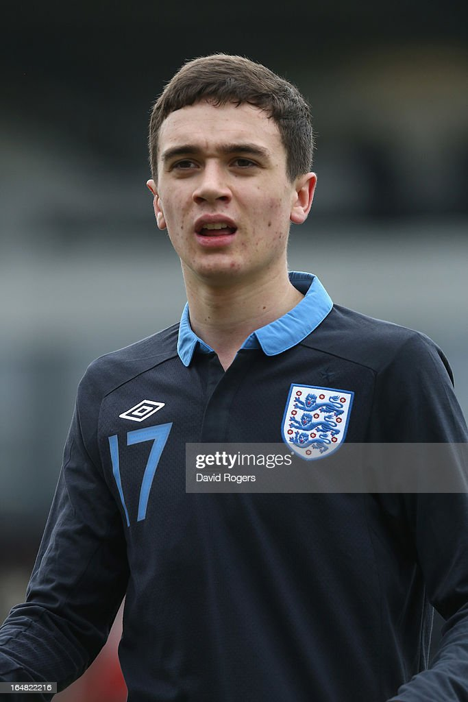 Alex Gilliead of England looks on during the UEFA European Under 17 Championship match between England and Slovenia at Pirelli Stadium on March 28, 2013 in Burton-upon-Trent, England.