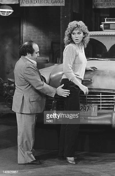 TAXI 'Alex Goes Off the Wagon' Episode 3 Aired Pictured Danny DeVito as Louie De Palma Marilu Henner as Elaine O'ConnorNardo Photo by Ron Tom/NBCU...