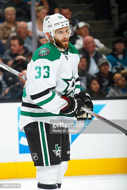Alex Goligoski of the Dallas Stars looks on during the game against the San Jose Sharks at SAP Center on April 6 2015 in San Jose California