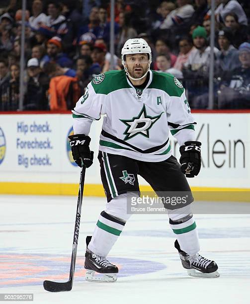 Alex Goligoski of the Dallas Stars skates against the New York Islanders at the Barclays Center on January 3 2016 in the Brooklyn borough of New York...