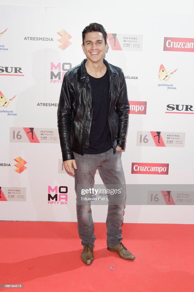 Alex Gonzalez attends Malaga Film Festival party photocall at MOMA 56 disco on April 9, 2013 in Madrid, Spain.