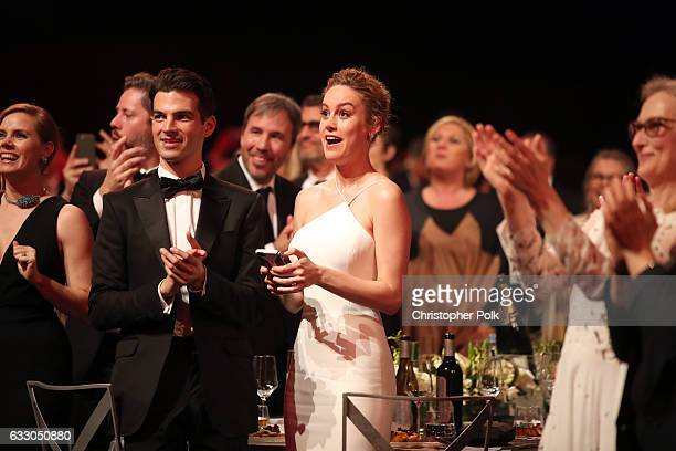 Alex Greenwald and actor Brie Larson during The 23rd Annual Screen Actors Guild Awards at The Shrine Auditorium on January 29 2017 in Los Angeles...