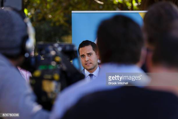 Alex Greenwich from Australian Marriage Equality speaks during a media conference on August 6 2017 in Sydney Australia The federal government is...
