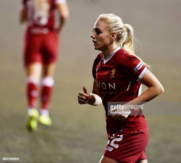Alex Greenwood of Liverpool Ladies during the Women's Super League match between Liverpool Ladies and Sheffield FC Ladies at Select Security Stadium...