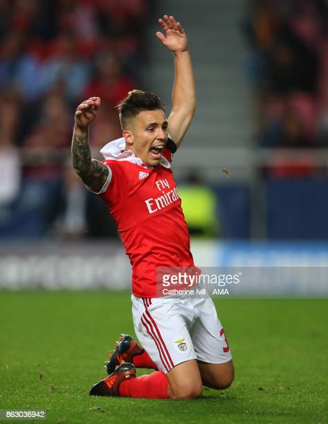 Alex Grimaldo of Benfica during the UEFA Champions League group A match between SL Benfica and Manchester United at Estadio da Luz on October 18 2017...