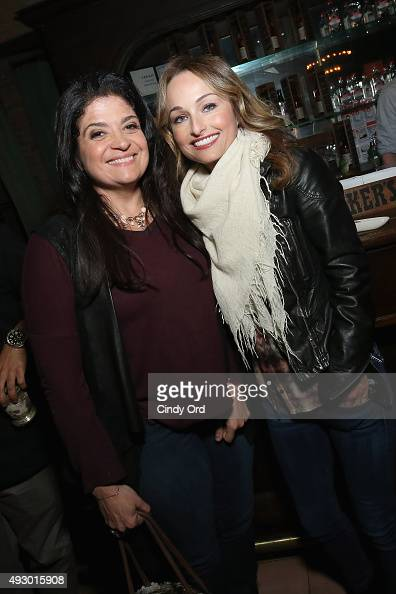 Alex Guarnaschelli and Giada De Laurentiis attend Rachael Ray's Feedback Chefs and Cocktails part of Mohegan Sun's Late Night Party Series during...