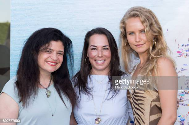 Alex Guarnaschelli Samantha Yanks and Sailor Brinkley Cook attend Hamptons Magazine and Matthew Breitenbach Celebration with Artist Gray Malin June...