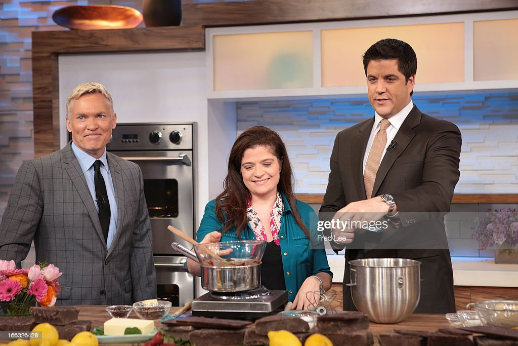 AMERICA - Alex Guarnaschelli shares recipes on 'Good Morning America,' 4/10/13, airing on the ABC Television Network. (Photo by Fred Lee/ABC via Getty Images) SAM