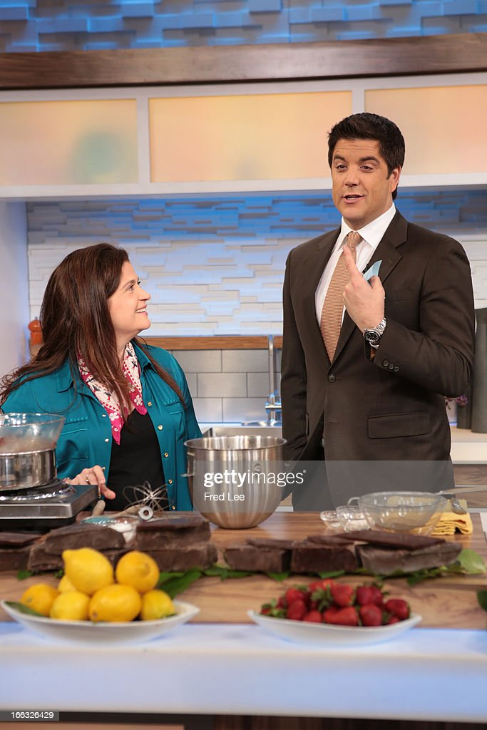 AMERICA - Alex Guarnaschelli shares recipes on 'Good Morning America,' 4/10/13, airing on the ABC Television Network. (Photo by Fred Lee/ABC via Getty Images) ALEX