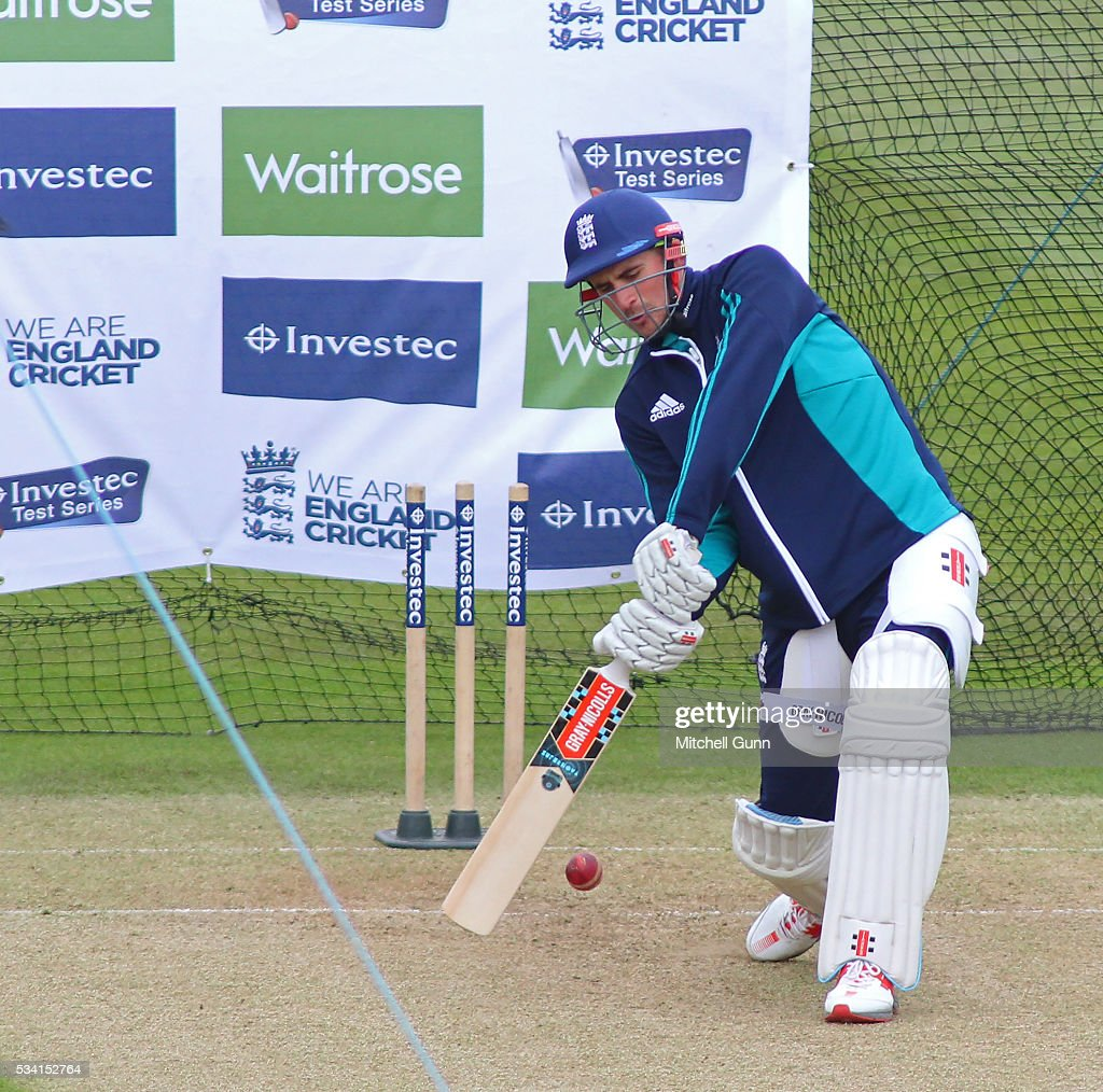 Alex Hales during England Nets session ahead of the 2nd Investec Test match between England and Sri Lanka at Emirates Durham ICG on May 25, 2016 in Chester-le-Street, United Kingdom.
