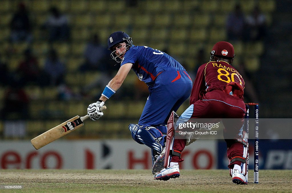 <a gi-track='captionPersonalityLinkClicked' href=/galleries/search?phrase=Alex+Hales&family=editorial&specificpeople=5129140 ng-click='$event.stopPropagation()'>Alex Hales</a> of England bats during the A1 versus B2 Super Eight match between England and West Indies at Pallekele Cricket Stadium on September 27, 2012 in Kandy, Sri Lanka.