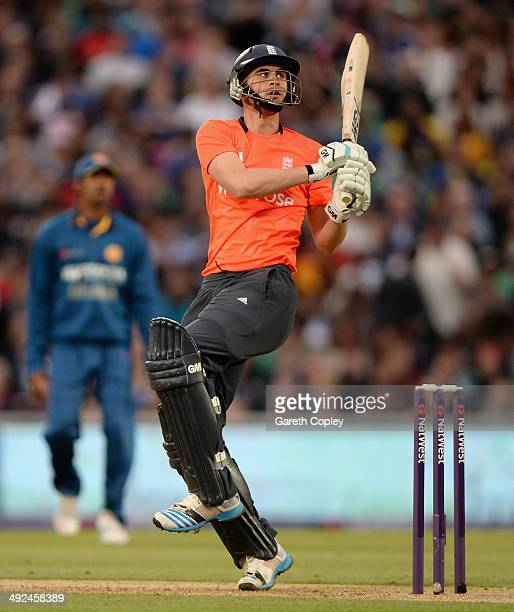 Alex Hales of England bats during the NatWest International T20 match between England and Sri Lanka at The Kia Oval on May 20 2014 in London England
