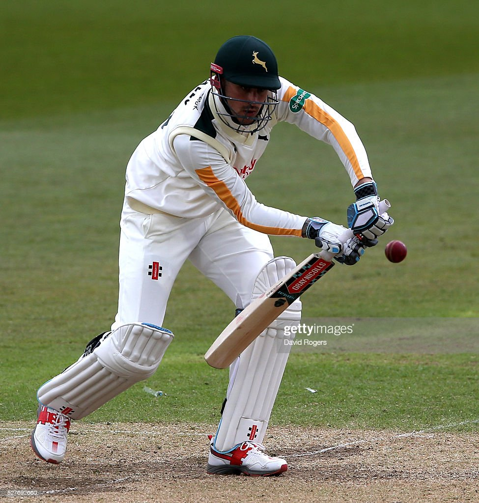 <a gi-track='captionPersonalityLinkClicked' href=/galleries/search?phrase=Alex+Hales&family=editorial&specificpeople=5129140 ng-click='$event.stopPropagation()'>Alex Hales</a> of Nottinghamshire drives for four runs during the Specsavers County Championship division one match between Nottinghamshire and Yorkshire at the Trent Bridge on May 3, 2016 in Nottingham, England.