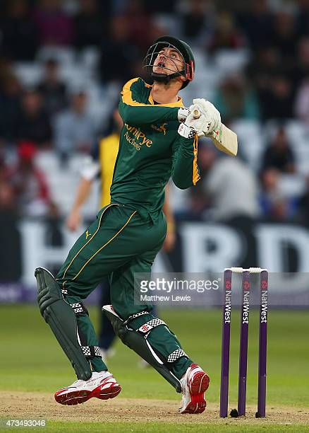 ALex Hales of Nottinghamshire in action during the NatWest T20 Blast match between Nottinghamshire and Warwickshire at Trent Bridge on May 15 2015 in...