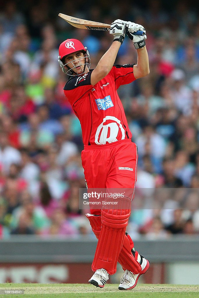 <a gi-track='captionPersonalityLinkClicked' href=/galleries/search?phrase=Alex+Hales&family=editorial&specificpeople=5129140 ng-click='$event.stopPropagation()'>Alex Hales</a> of the Renegades bats during the Big Bash League match between the Sydney Sixers and the Melbourne Renegades at SCG on January 9, 2013 in Sydney, Australia.