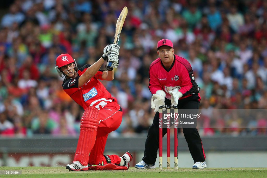 Alex Hales of the Renegades bats during the Big Bash League match between the Sydney Sixers and the Melbourne Renegades at SCG on January 9, 2013 in Sydney, Australia.