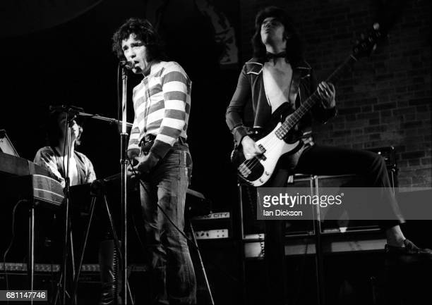 Alex Harvey and Chris Glen of The Sensational Alex Harvey Band performing on stage at Reading Festival Reading United Kingdom 23 August 1974