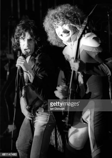 Alex Harvey and Zal Cleminson of The Sensational Alex Harvey Band performing on stage at Mayfair Ballroom NewcastleuponTyne 02 March 1973
