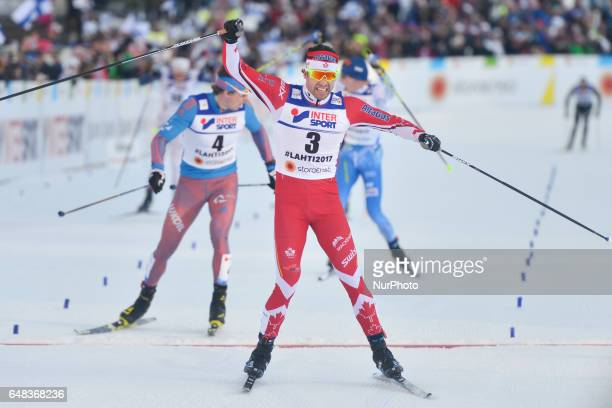Alex Harvey from Canada wins Men crosscountry 50 km Mass Start Free final at FIS Nordic World Ski Championship 2017 in Lahti On Sunday March 05 in...
