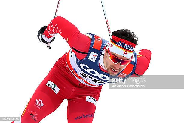 Alex Harvey of Canada competes at the Mens 12km Classic Sprint Competition during day 1 of the FIS Tour de Ski event on January 5 2016 in Oberstdorf...