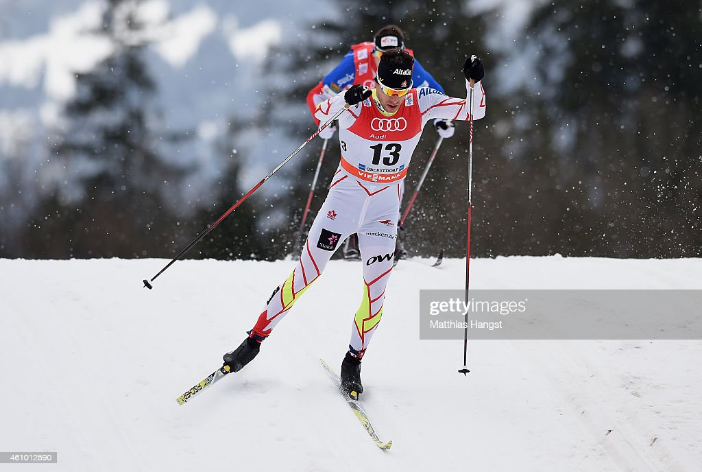 <a gi-track='captionPersonalityLinkClicked' href=/galleries/search?phrase=Alex+Harvey+-+Skier&family=editorial&specificpeople=6719953 ng-click='$event.stopPropagation()'>Alex Harvey</a> of Canada competes during the Men's 15 km Pursuit Classic event for the FIS Cross Country World Cup Tour de Ski on January 4, 2015 in Oberstdorf, Germany.