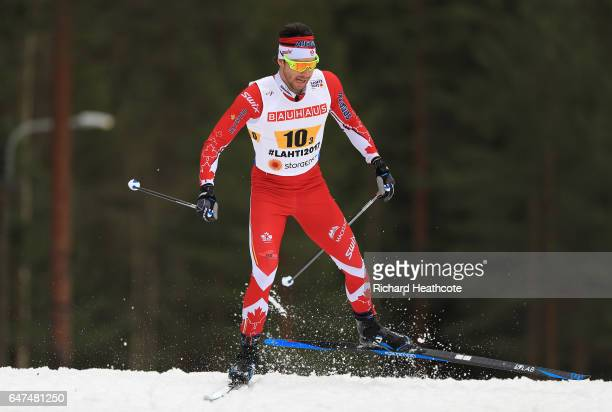 Alex Harvey of Canada competes in the Men's 4x10km Cross Country Relay during the FIS Nordic World Ski Championships on March 3 2017 in Lahti Finland
