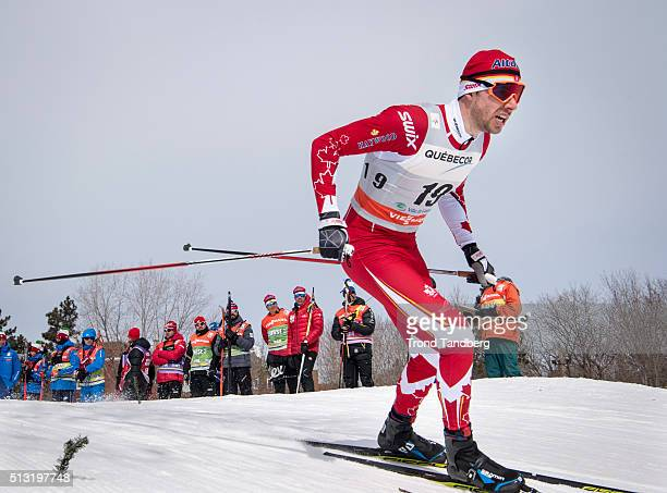 Alex Harvey of Canada during Cross Country Men 17 km Sprint Free on March 01 2016 in Gatineau Quebec Canada