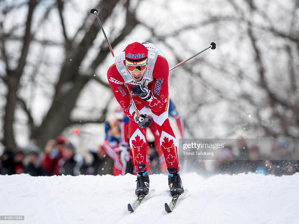 <a gi-track='captionPersonalityLinkClicked' href=/galleries/search?phrase=Alex+Harvey+-+Skier&family=editorial&specificpeople=6719953 ng-click='$event.stopPropagation()'>Alex Harvey</a> of Canada during Cross Country Men 17.5 km Mass Start Classic on March 02, 2016 in Montreal, Canada .