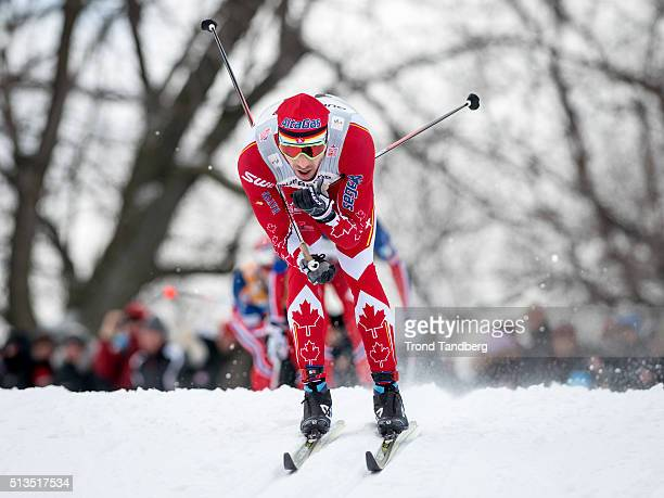 Alex Harvey of Canada during Cross Country Men 175 km Mass Start Classic on March 02 2016 in Montreal Canada